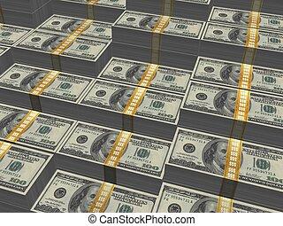 money stack  - Big stack of money