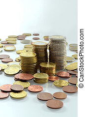 Money stack - Tower of Euro coins.