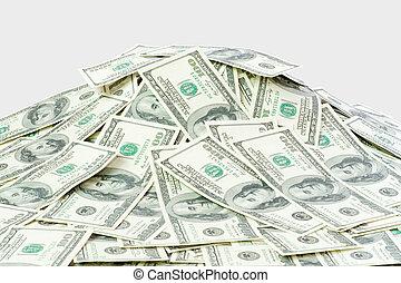 money - big pile of the money. dollars usa