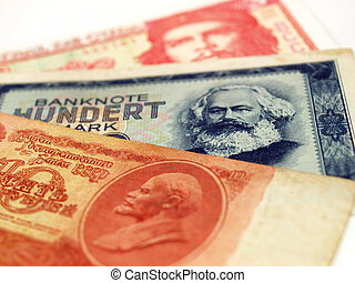 Money from the Communist countries: CCCP SSSR DDR Cuba