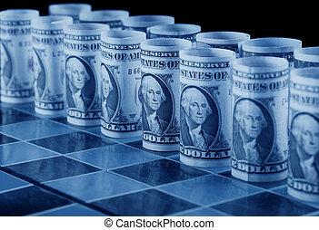 Money strategy concept