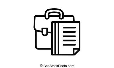 Money suitcase icon animation best object on white background
