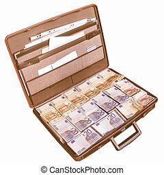 Money suitcase vintage