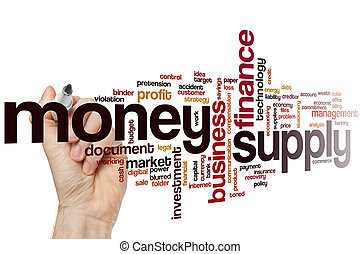 Money supply word cloud