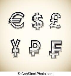 Money Symbols Set