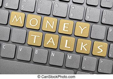 Money talks key on keyboard