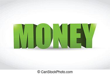 money text sign illustration design