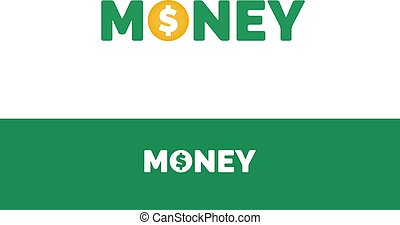 Money text with dollar sign