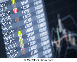 Money trade - currency trading ,closeup and shallow DOF, for...