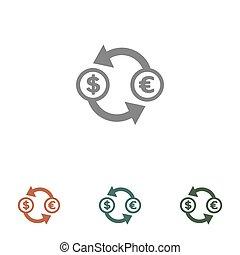 money transaction icon isolated on white background