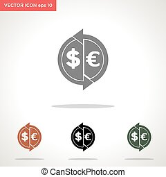 money transaction vector icon isolated on white background