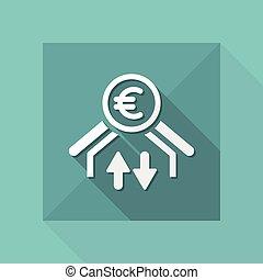Money transfer icon - Euro