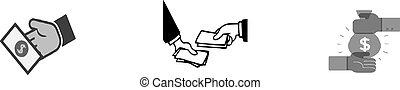 Money transfer icon on white background