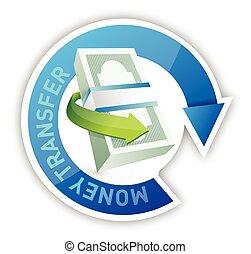 money transfer illustration design