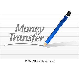 money transfer message sign illustration design