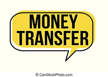 Money transfer speech bubble