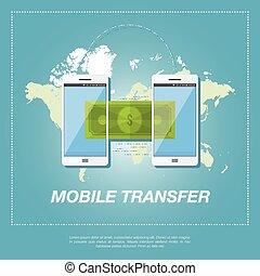 Money transfer vector concept.
