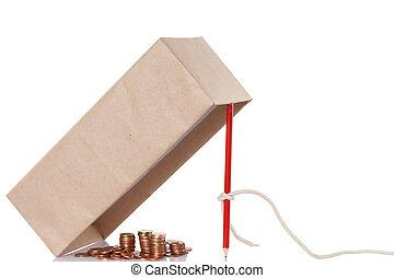 Money trap, fraud concept