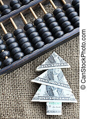 Money tree and abacus