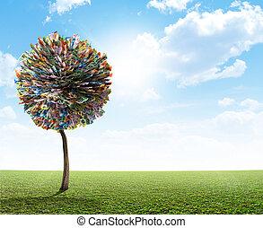 Money Tree Australian Dollar - A stylized fantasy mythical...