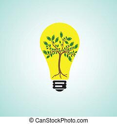 Money tree within bulb
