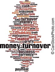 Money turnover word cloud concept. Collage made of words ...