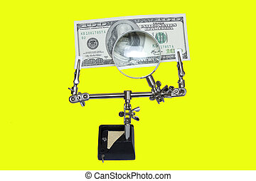 Money under the magnifying glass