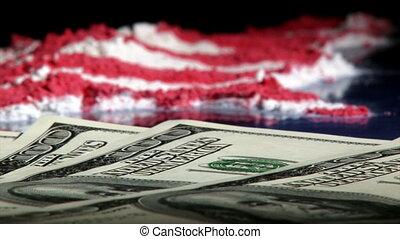 Money US map, pan left