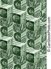 Money wall concept - Money wall -financial concept of...