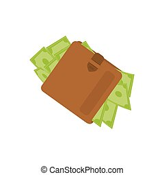 Money wallet accesorie icon vector illustration graphic...