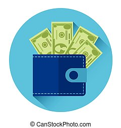 Money Wallet Icon Business Investment Concept