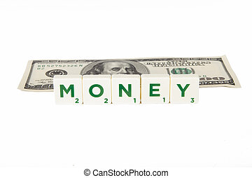 Money Word and Dollar Bill