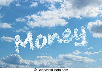 Money word on cloud