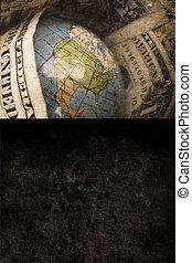 Money World - old money world in retro design look