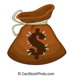 Moneybag with dollar sign, payment or savings icon - Cloth ...
