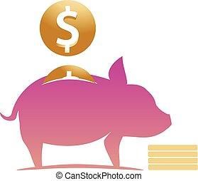 moneybox pig illustration