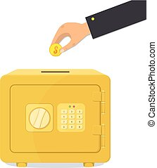 Moneybox, save money concept.