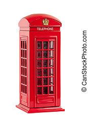 moneybox, telefono, britannico, cabina, rappresentare, rosso