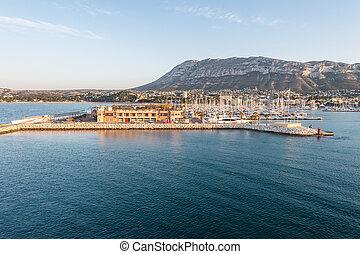 mongo,  denia, méditerranéen,  Alicante, mer,  Marina,  port, espagne