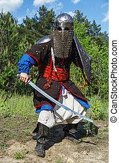 Mongol horde warrior