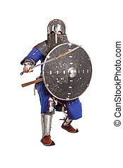 Mongol warrior in armour