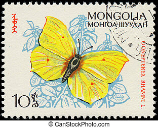 MONGOLIA - CIRCA 1963: A stamp printed in Mongolia shows...
