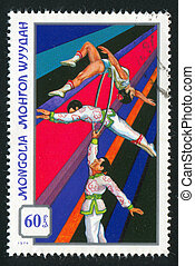 acrobats with rings