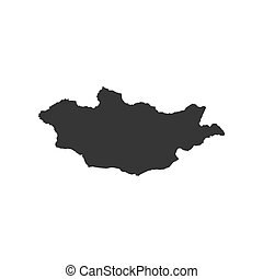 Mongolia map silhouette