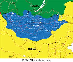 mongolia, mapa