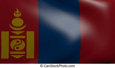 mongolia strong wind flag