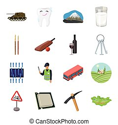 Mongolia, Transport, army and other web icon in cartoon style. Crime, alcohol, dentistry icons in set collection.