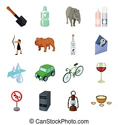 Mongolia, Transport, computer, rocks and other web icon in cartoon style. Army, dentistry, mine icons in set collection.