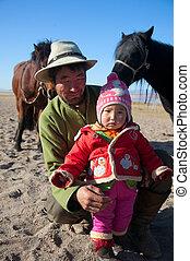 mongolian, 家族