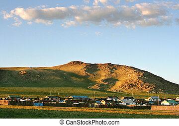 mongolian, 村
